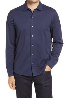 Robert Barakett Seneca Regular Fit Knit Button-Up Shirt