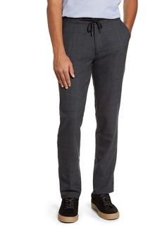 Robert Barakett Warren Drawstring Plaid Wool Blend Trousers