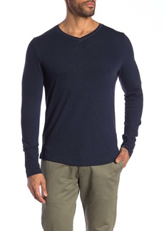 Robert Barakett Roland V-Neck Long Sleeve Tee