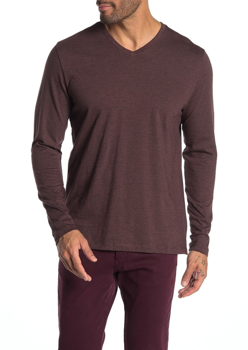 Robert Barakett Royce Stripe Long Sleeve T-Shirt