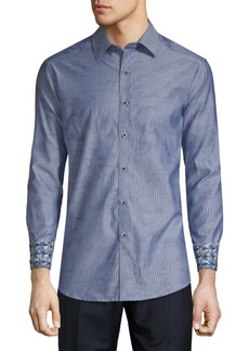 Robert Graham Abbey Cotton Button-Down Shirt