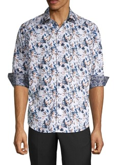 Robert Graham Abrell Layered Print Sport Shirt