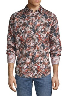 Robert Graham Abstract-Print Cotton Shirt