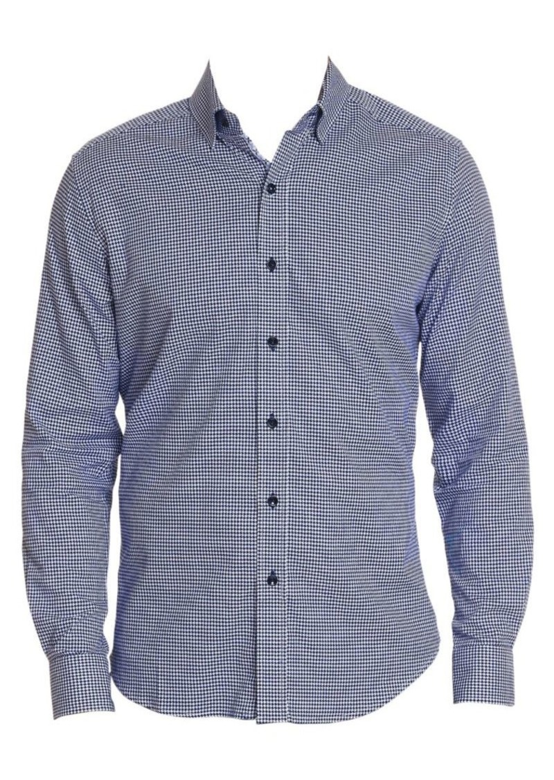 Robert Graham Alabaster Houndstooth Button-Down Shirt