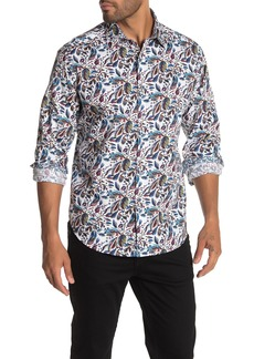 Robert Graham Alco Leaf Print Long Sleeve Classic Fit Shirt