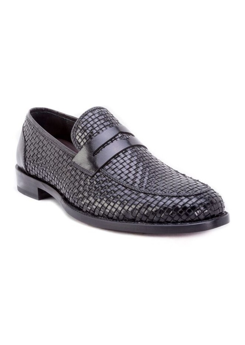 Robert Graham Ameson Textured Leather Loafer