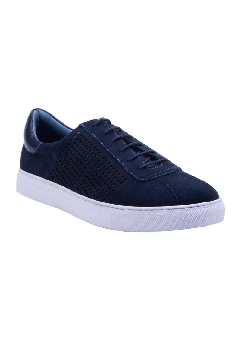 Robert Graham Anson Perforated Low Top Sneaker