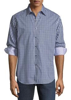 Robert Graham Art Avenue Checkered Sport Shirt