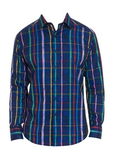 Robert Graham Augustine Multicolor Stripe Button-Down Shirt