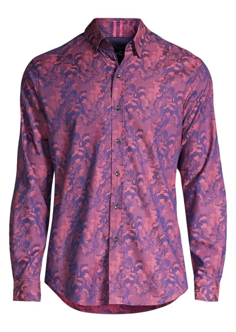 Robert Graham Bagshaw Camo Jacquard Sport Shirt