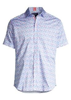 Robert Graham Banner Printed Stretch-Cotton Shirt