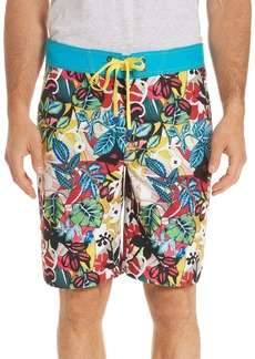Robert Graham Barbarito Floral-Print Swim Trunks