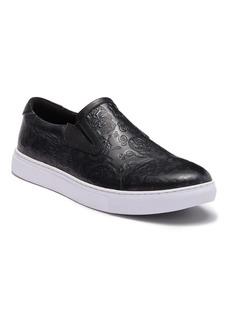 Robert Graham Baxter Embossed Leather Slip-On Sneaker