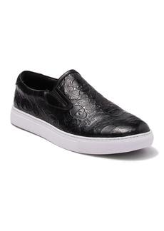 Robert Graham Ben-hur Embossed Leather Slip-On Sneaker
