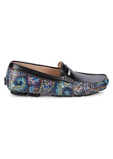Robert Graham Blundell Paisley Leather Driving Loafers