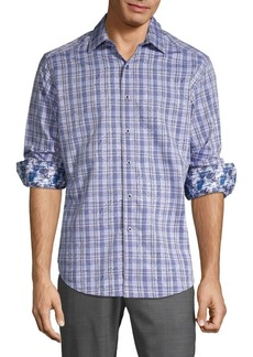 Robert Graham Bock Plaid & Paisley Sport Shirt