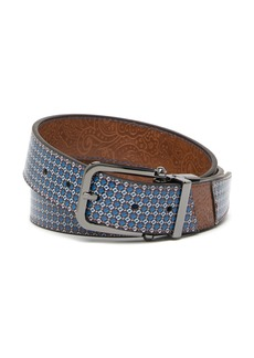 Robert Graham Bogart Printed Reversible Leather Belt