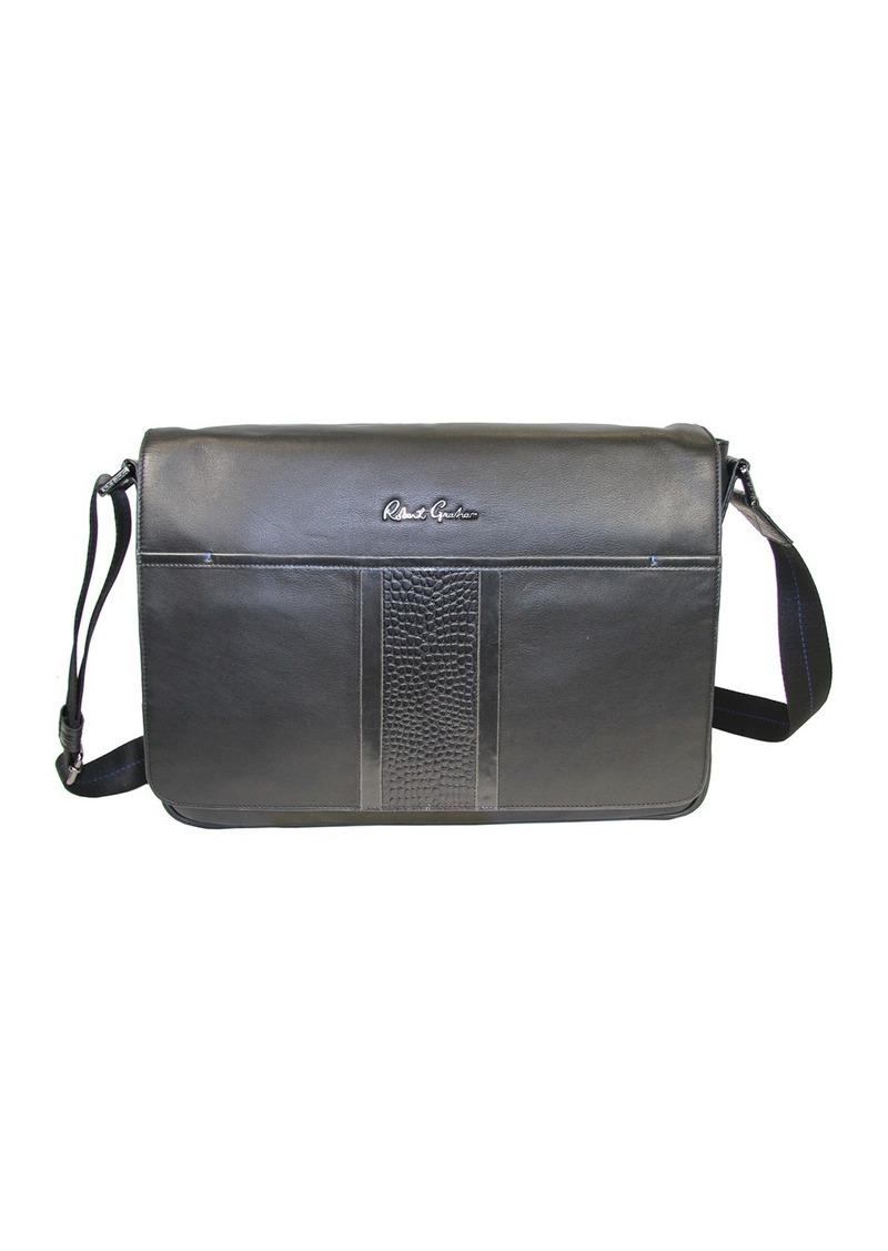 Robert Graham Bottas Croc Leather Messenger Bag