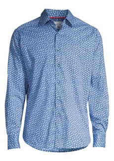 Robert Graham Boulevard Classic-Fit Mini Rose Print Sport Shirt
