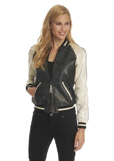 Robert Graham Britt Leather Bomber Jacket