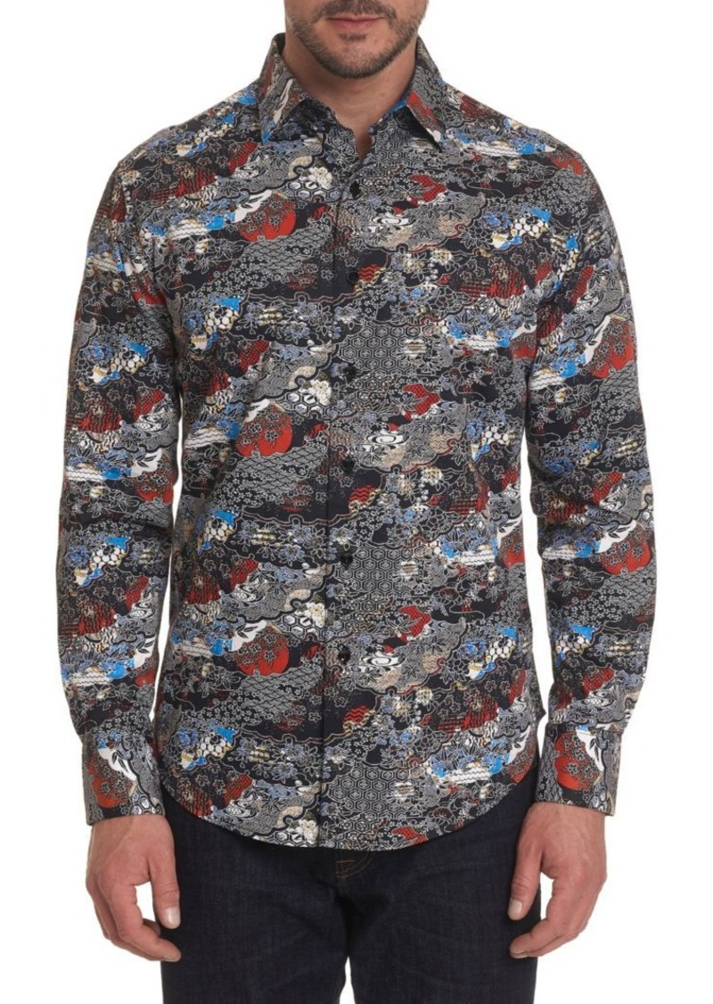 Robert Graham Brynwood Printed Button-Down Shirt