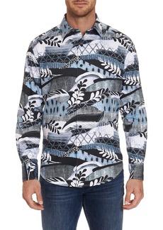 Robert Graham Buckler Embroidered Sport Shirt