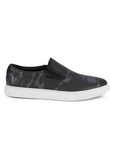 Robert Graham Buster Camouflage Leather Slip-On Sneakers