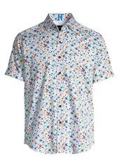 Robert Graham Calico Stretch Cotton Floral Shirt