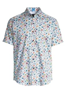 Robert Graham Calico Stretch Cotton Floral Shirt