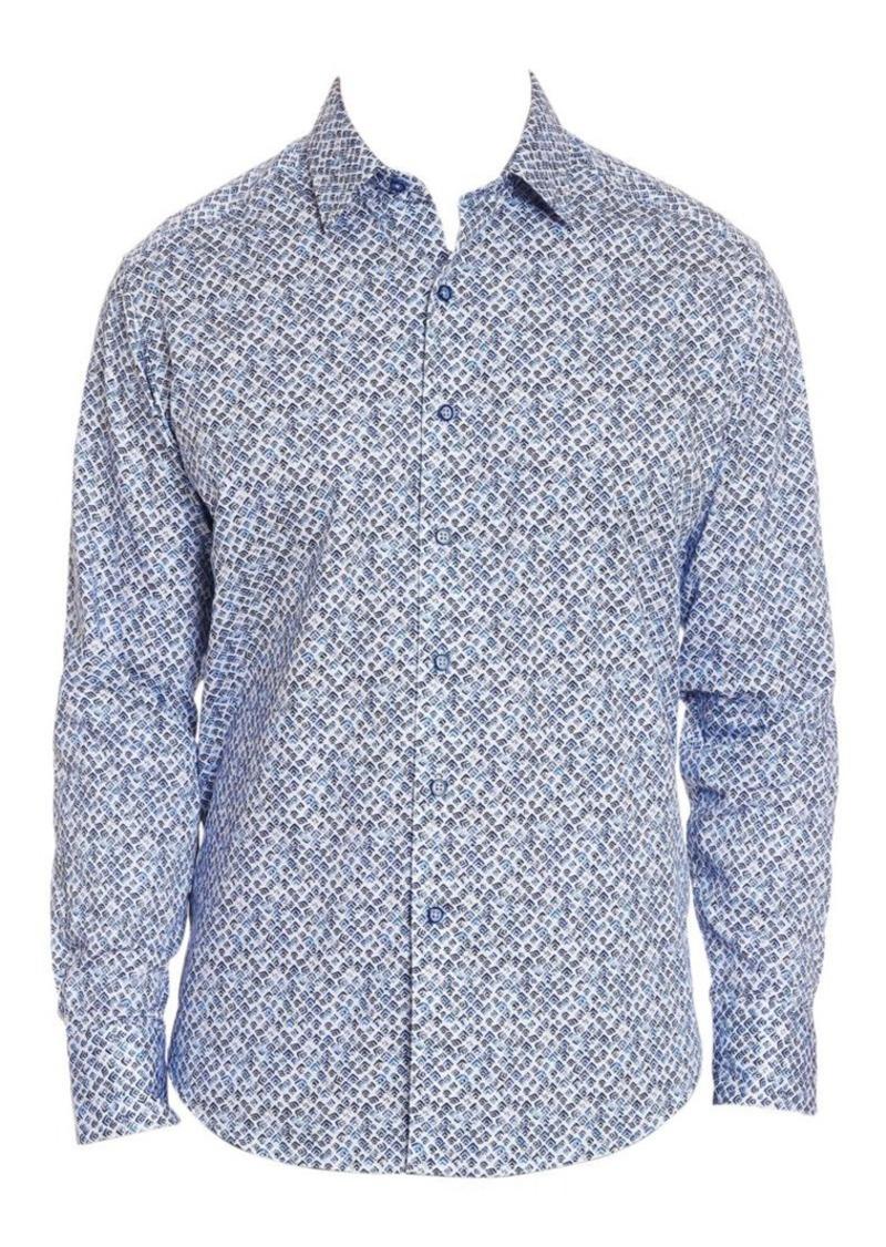 Robert Graham Celadon Printed Button-Down Shirt