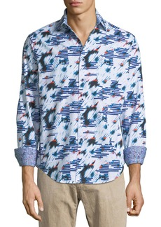 Robert Graham Chanute Classic-Fit Chanute Sport Shirt  Light Blue