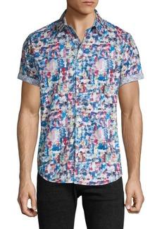 Robert Graham Classic-Fit Abstract Short-Sleeve Shirt
