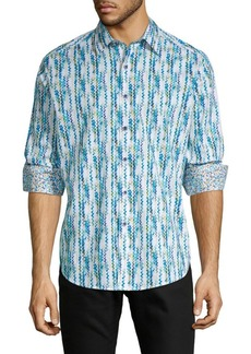 Robert Graham Classic-Fit Chevron Long Sleeve Shirt