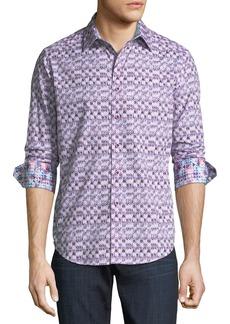 Robert Graham Classic-Fit Cobre Ikat-Print Sport Shirt