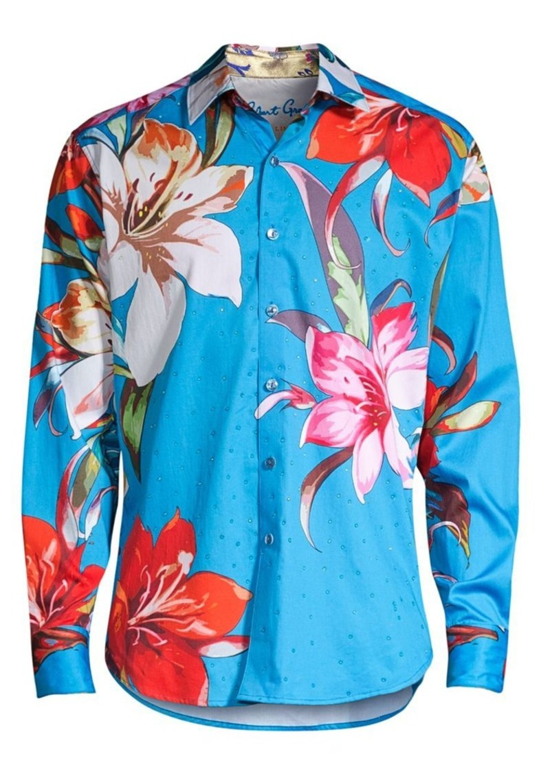 Robert Graham Classic-Fit Floral-Print Shirt