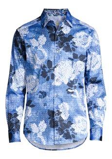 Robert Graham Classic-Fit Geometric Rose-Print Shirt