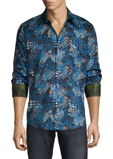 Robert Graham Classic-Fit Mixed-Print Shirt