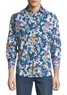 Robert Graham Classic-Fit Paril Creek Floral & Camo Sport Shirt