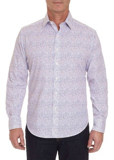 Robert Graham Classic-Fit Pindot Button-Down Shirt