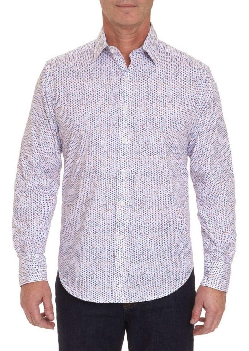 Robert Graham Classic-Fit Pindot Button-Down Shirt