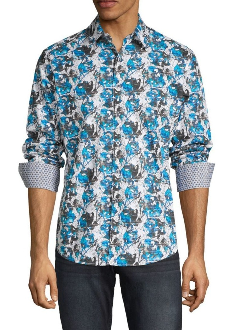 Robert Graham Classic-Fit Printed Cotton Shirt