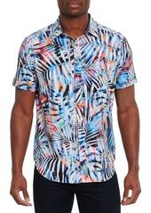 Robert Graham Color Depth Palm-Printed Short-Sleeve Shirt