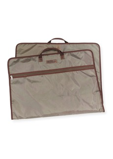Robert Graham Contrast-Trim Garment Bag  Olive/Brown/Orange
