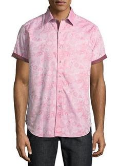 Robert Graham Coolbrook Paisley-Print Short-Sleeve Sport Shirt
