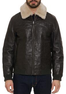 Robert Graham Corson Leather Shearling Jacket