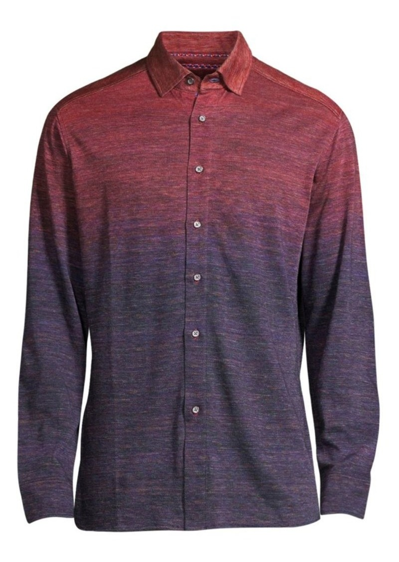 Robert Graham Curtiz Ombré Button Front Shirt