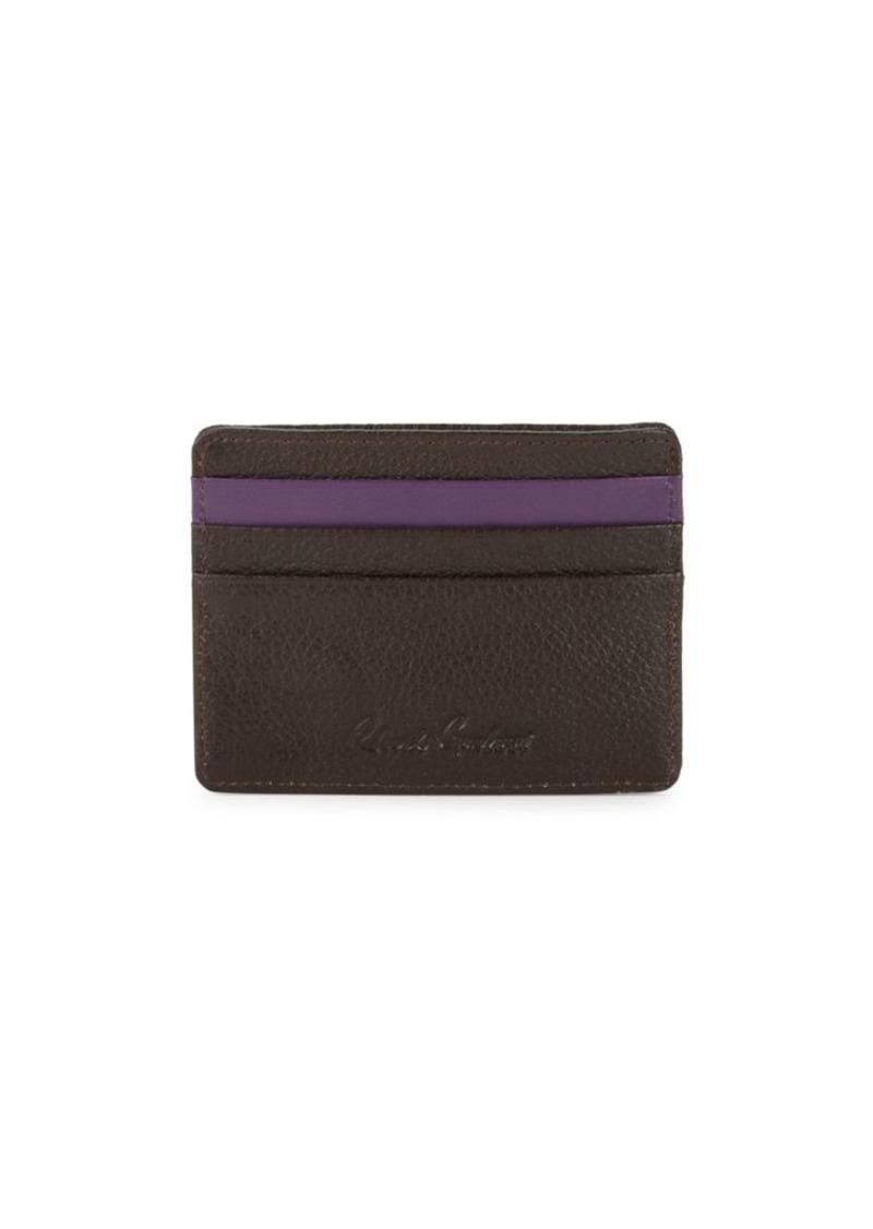 Robert Graham Denham Pebbled Leather Card Case