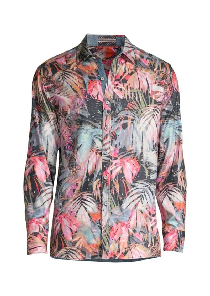 Robert Graham Desperado Tropical-Print Shirt