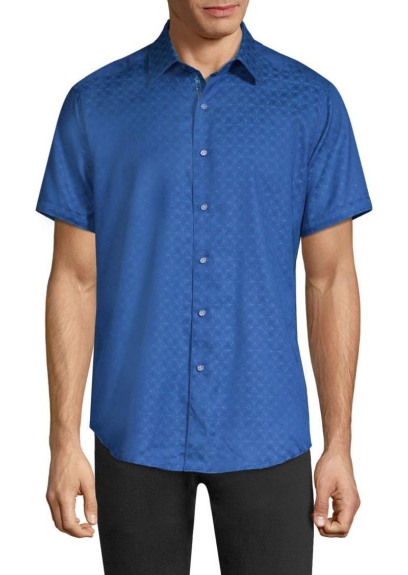 Robert Graham Diamente Tonal Print Button-Down Shirt