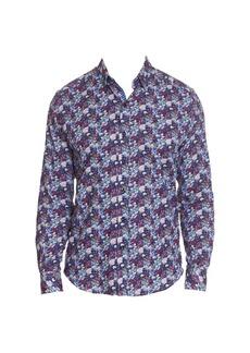Robert Graham Dunn Floral Stretch-Cotton Shirt